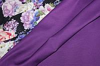 Ткань Джерси, трикотаж, ультра фиолет, фото 1