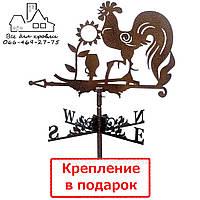 Флюгер на крышу Петух на заборе ( Півень на паркані)