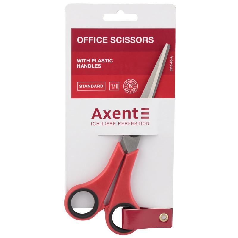 Ножницы Axent Standard 6215-06-A, 17 см, красные