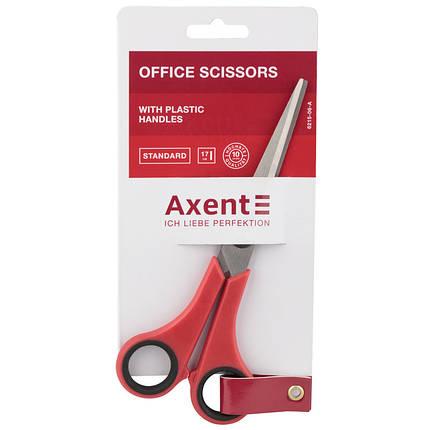 Ножницы Axent Standard 6215-06-A, 17 см, красные, фото 2