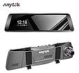 Видеорегистратор-зеркало Anytek T90 полный экран 9.88 двойной объектив, регистратор в авто DVR, Подарок, фото 4