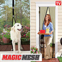 Магнитные шторы Magic mesh, антимоскитна сетка, сетка на магнитах, шторка на двери магнитная Меджик Меш, Акция