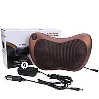 Массажёр Massage pillow 8028 массажная подушка для дома и авто коричневая