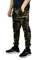 Камуфляжные мужские спортивные трикотажные штаны с манжетами REEBOK , фото 1