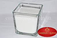 Подсвечник стеклянный куб 10 см, фото 1