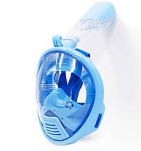 Дитяча маска для плавання та сноркелінгу на все обличчя TheNice К-1 EasyBreath-III XS Блакитний