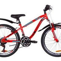"""Велосипед 24"""" дюйма 2-х колесный Discovery Flint красно-оранжевый"""