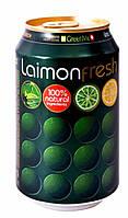 Газированный напиток Лаймон Фреш в жестяной банке объемом 330мл x24шт.