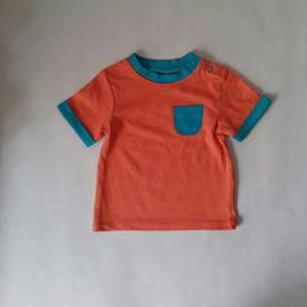 Футболка оранжеваяс карманчиком Tu (Англия) 3-6мес.(62-68см.)