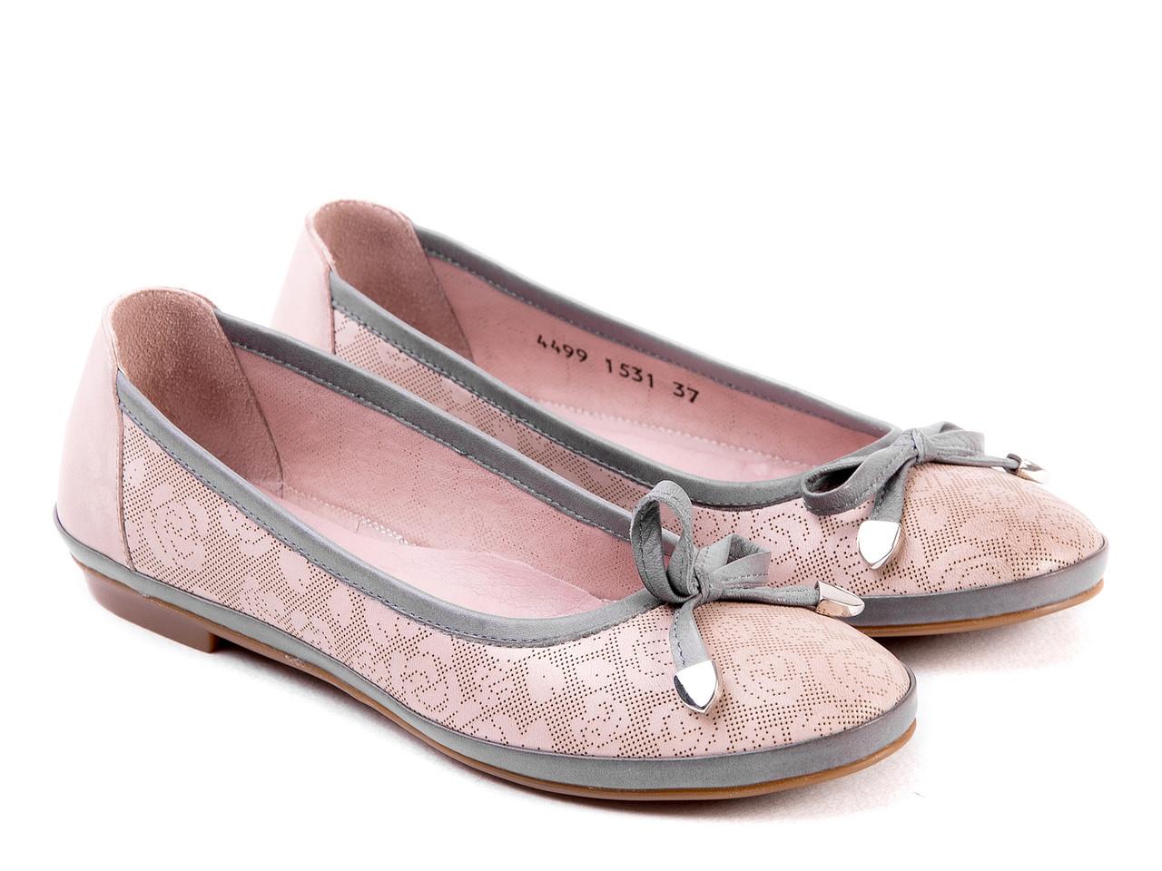 Балетки Etor 4499-2122 розовые