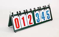 Табло перекидное для игр (3х3, металл, пластик, р-р 55,5см x19см), фото 1
