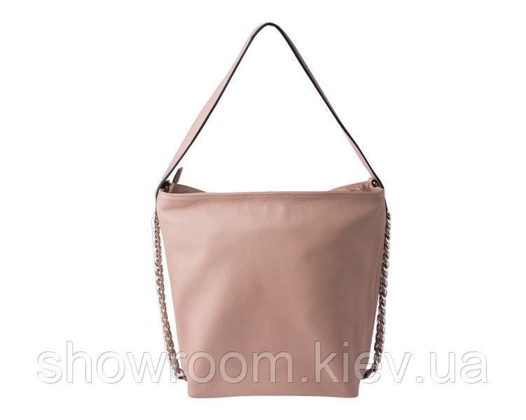 Женская кожаная сумка Laura Biaggi (12965) пудровая