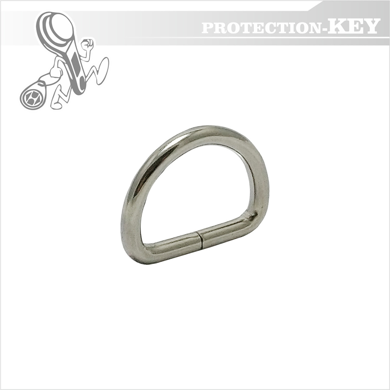 Півкільце металеве 20 * 13 * 3,5 мм