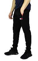 Черные мужские спортивные трикотажные штаны с манжетами TOMMY, фото 1