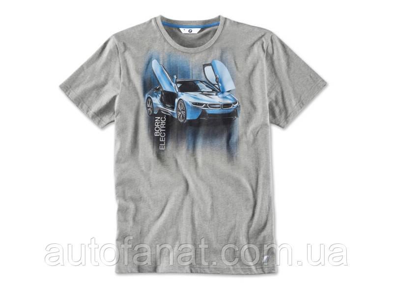 Оригинальная мужская футболка BMW i T-Shirt with i8 Print, Men (80142411479)