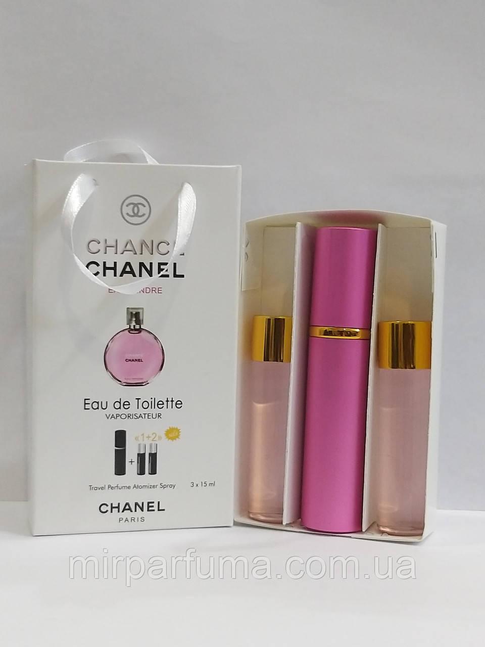 Подарочные мини духи 3*15мл Chanel Chance Tendre Woman 45ml