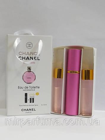 Подарочные мини духи 3*15мл Chanel Chance Tendre Woman 45ml , фото 2