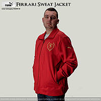 Толстовка-олимпийка Sweat Jacket Pompei, красная, на змейке, из натурального сырья, 56-58 размер (XL)