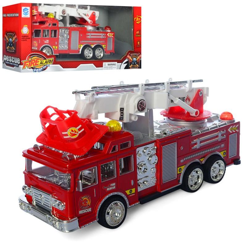 Пожежна машина 6789-4 їздить, музика, світло, на батарейки, в коробці, 34,5-14-9 см