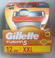 Лезвия Gillette Fusion Power упаковка 12 шт, фото 1