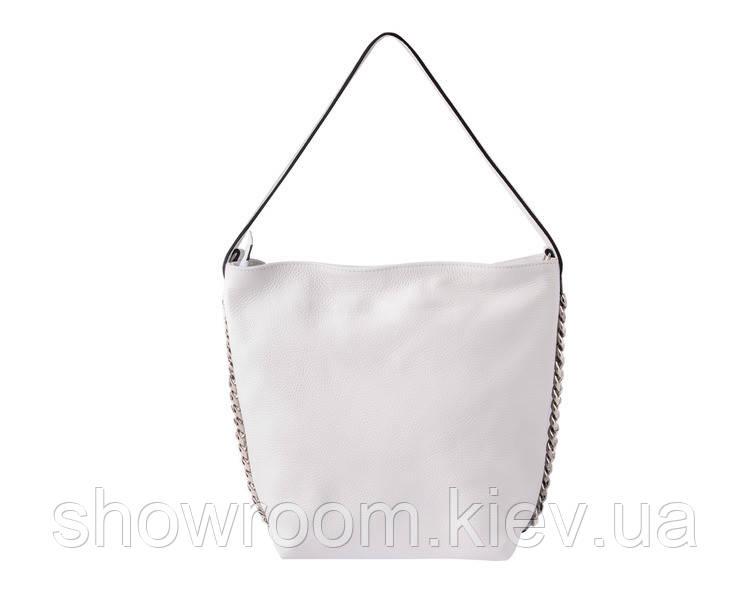 Женская кожаная сумка Laura Biaggi (12965) белая