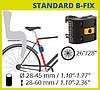 Дитяче велосипедне крісло BELLELLI Summer Standart B-fix до 22 кг SAD-99-09 сірий/червоний, фото 6