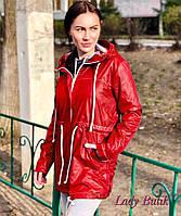 Женская плащевая ветровка с кулиской и капюшоном 380624, фото 1