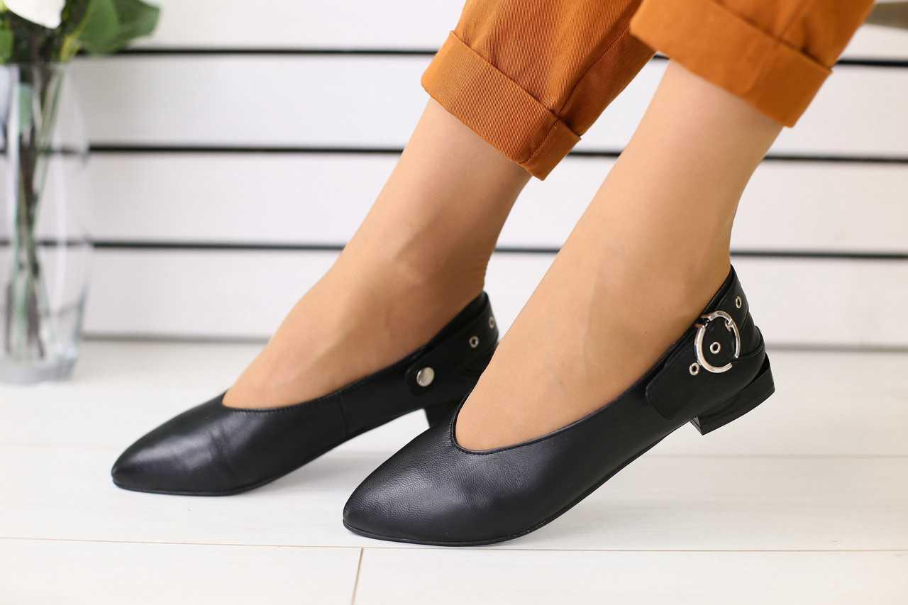 Балетки женские классические качественные удобные популярные без каблука (черные)