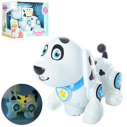 Собака 696-25 (36шт) 20см, ездит, муз, звук, свет, на бат-ке, в кор-ке, 25,5-19-13см