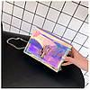 Cумка женская розовая из акрилового пластика, фото 7