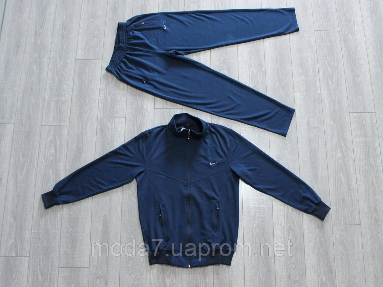 Спортивный костюм мужской Nike батал 56р-62р синий Турция реплика