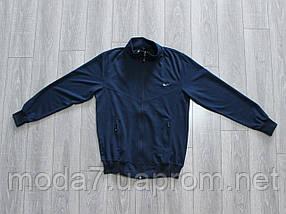 Спортивный костюм мужской Nike батал 56р-62р синий Турция реплика, фото 2