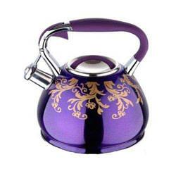 Чайник со свистком Flame 4,5 л Wellberg WB-6384