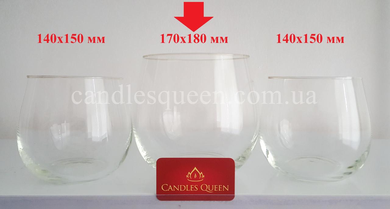 Ваза из стекла прозрачная - 170х180 мм