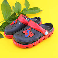 Детские двухцветные кроксы оптом детская летняя обувь тм Виталия производство Украина р.20-21,22-22,5,23-24