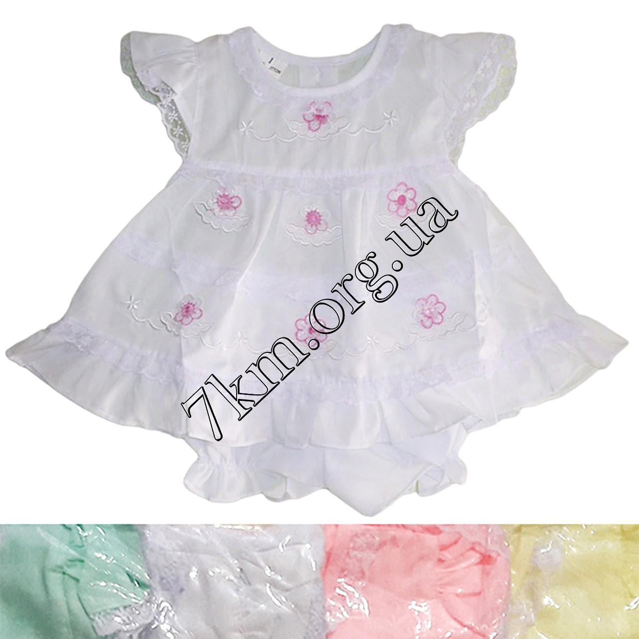 Платье с трусиками батист розовое 6-18 месяцев Оптом 020507