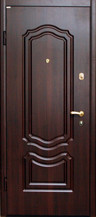 Входная дверь Классика, темный орех