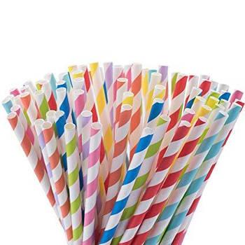 Бумажные трубочки соломка