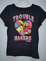 Футболка Детская Angry Birds Подростковая на Девочку с Принтом Оригинал Америка