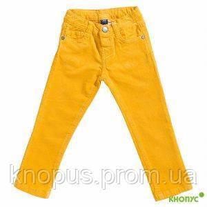 Вельветовые джинсы для девочки  желтые, Girandola, размеры 86,92