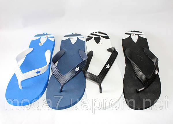 Вьетнамки подростковые черные Adidas реплика, фото 2