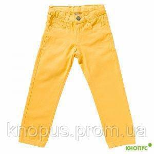 Летние джинсы для девочки (желтые), Girandola, размеры 98, 104