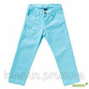 """Летние джинсы для девочки  голубые """"Аквамарин"""", Girandola, размеры 110, 116, 128"""