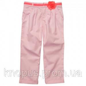 Капри для девочки  розовые, хлопок. Картерс, США, размер 116