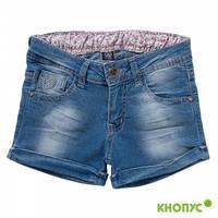 """Шорты для девочки  джинсовые """"Сердце"""", Girandola, размер 110"""