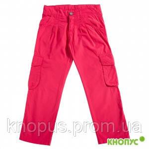 Штаны-капри (трансформеры) алые для девочки , Girandola, размер 110