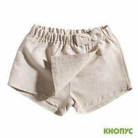 Шорты-юбка для маленькой девочки  (лен), Girandola, размер 86