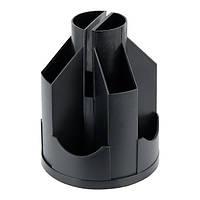 Підставка-органайзер Delta 103x135 мм, пластикова, чорна (d3003-01)