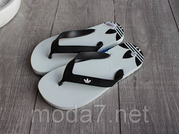Вьетнамки подростковые белые Adidas реплика, фото 2