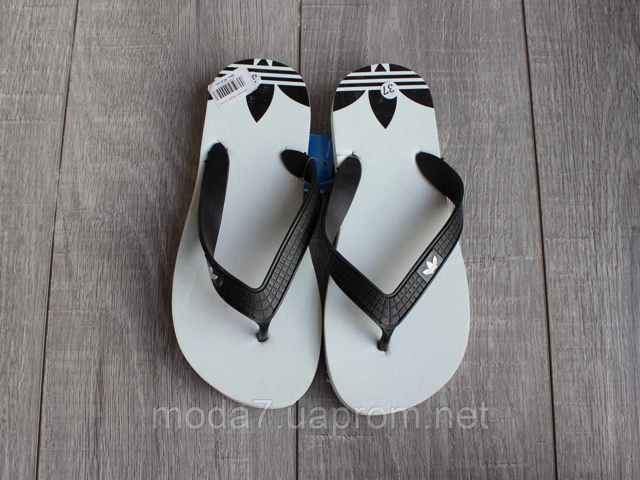 Вьетнамки подростковые белые Adidas реплика